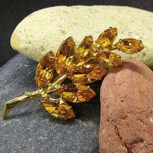 Honey Amber Colored Brooch